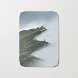 Foggy Landscape Digital Painting Bath Mat
