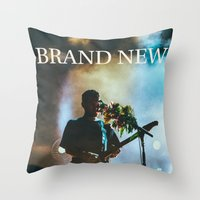 brand new Throw Pillows featuring Brand New by ICANWASHAWAY