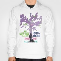 oscar wilde Hoodies featuring Oscar Wilde #3 I will wait here by bravo la fourmi