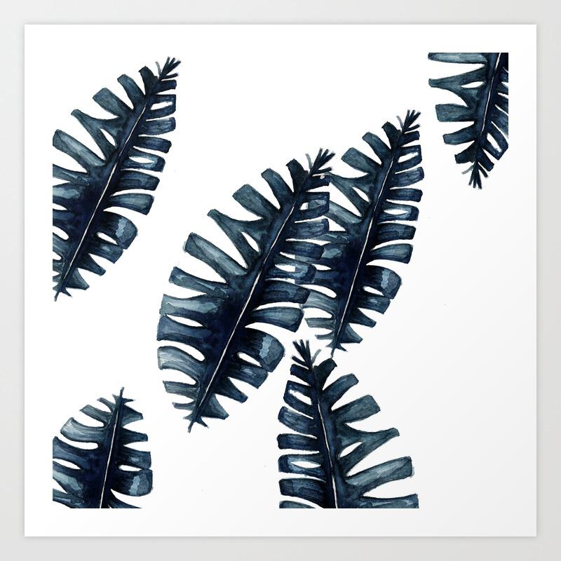 Tropical Leafs Art Print By Craftberrybush Society6