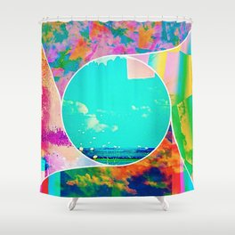 Cloudy Montage Shower Curtain