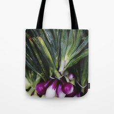 Red Onions in the Garden Tote Bag