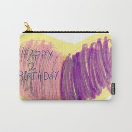 Happy 2 Birthday Marker Carry-All Pouch