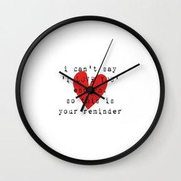 Long Distance Relationship LDR Wall Clock