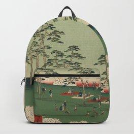 Spring Trees Mountain Ukiyo-e Japanese Art Backpack