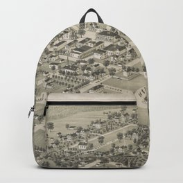 Vintage Pictorial Map of Monticello FL (1885) Backpack