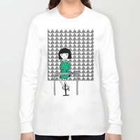 writing Long Sleeve T-shirts featuring Drawing and Writing by Anna illustrates