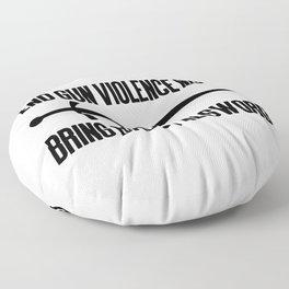 End gun violence now - Bring back the sword Floor Pillow