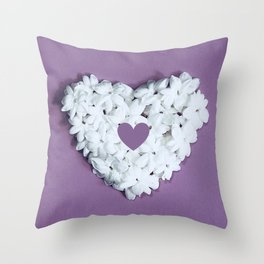 Purple You are in my heart Throw Pillow