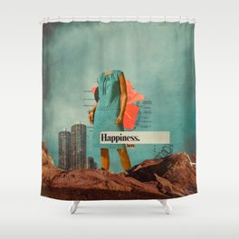 Happiness Here Shower Curtain
