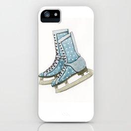 Polka dot ice skates iPhone Case