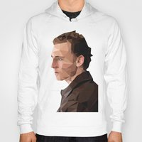 tom hiddleston Hoodies featuring Tom Hiddleston - Low Poly by khitkhat