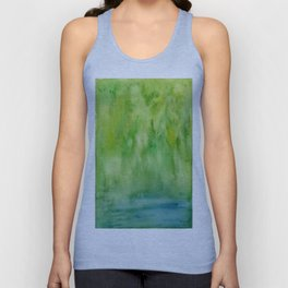 Arashiyama - Landscape - Art Watercolor Painting by Suisai Genki Unisex Tank Top