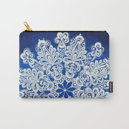 White snowflake in Petrykivka style Carry-All Pouch