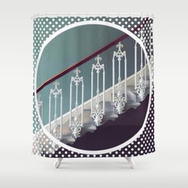 Stairway to heaven - dot circle graphic Shower Curtain