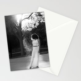 Woman in sunlight Stationery Cards