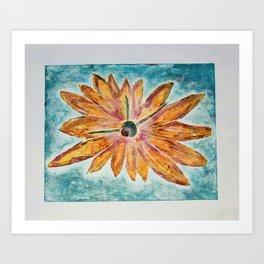 Orange Daisey Art Print