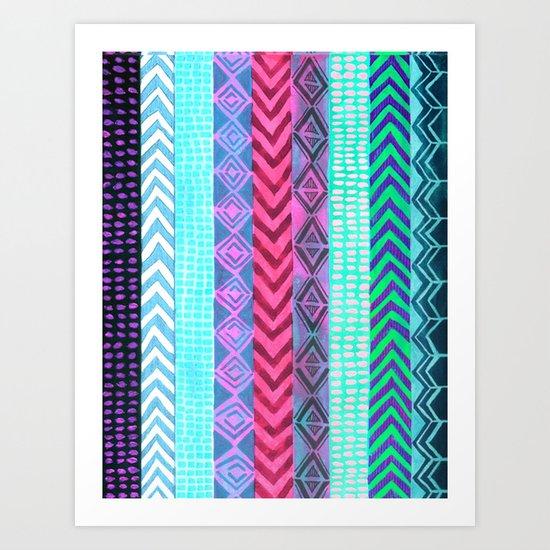 Tribal Pattern 04 Art Print