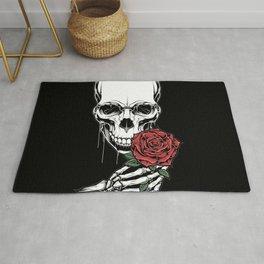 romantic skull Rug