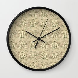 Siskiyou Trees Knit Wall Clock