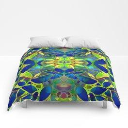 Floral Fractal Art G373 Comforters