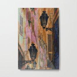 Night street Metal Print