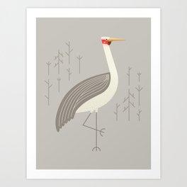 Brolga, Bird of Australia Art Print