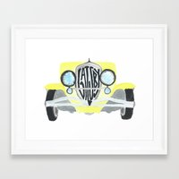 the great gatsby Framed Art Prints featuring Gatsby by S. L. Fina