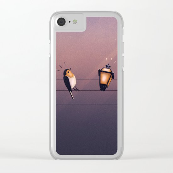 Feeling Wired?! Clear iPhone Case