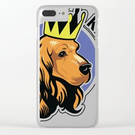 Red cocker spaniel head with crown Clear iPhone Case