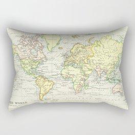 Vintage World Map (1899) Rectangular Pillow