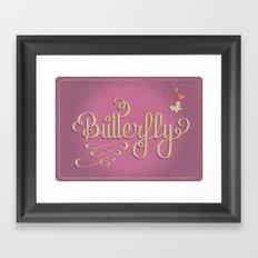 Butterfly Letttering Framed Art Print