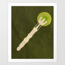 Minimalist Sonic Screwdriver Art Print