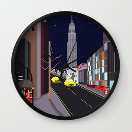 Raining in Manhattan Wall Clock
