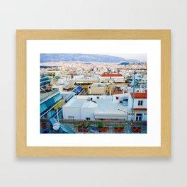 Rooftops, Athens Framed Art Print