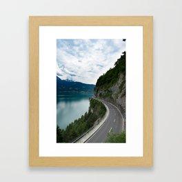 Lakeside Road Framed Art Print