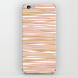 Horizontal Lines in Blush and Gold iPhone Skin