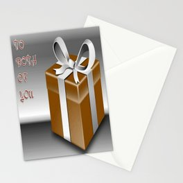 A Gift Box To Both Of You    Stationery Cards
