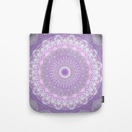 Lavender Purple Lace Mandala Tote Bag