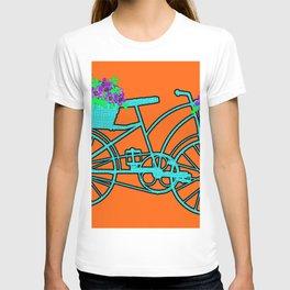 Pop Art Bike With Flower Basket T-shirt