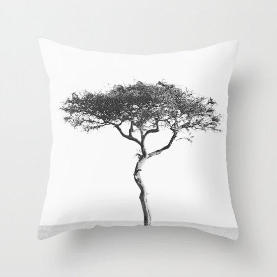 black&white::kenya Throw Pillow