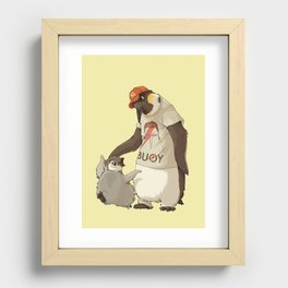 E is for Emperor Penguin Recessed Framed Print
