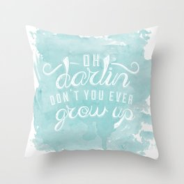 LYRICS - Don't you ever - color Throw Pillow