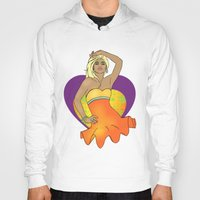 pinup Hoodies featuring Summer Pinup by CatAstrophe