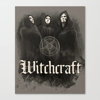 witchcraft Canvas Prints featuring Witchcraft by Corpse inc