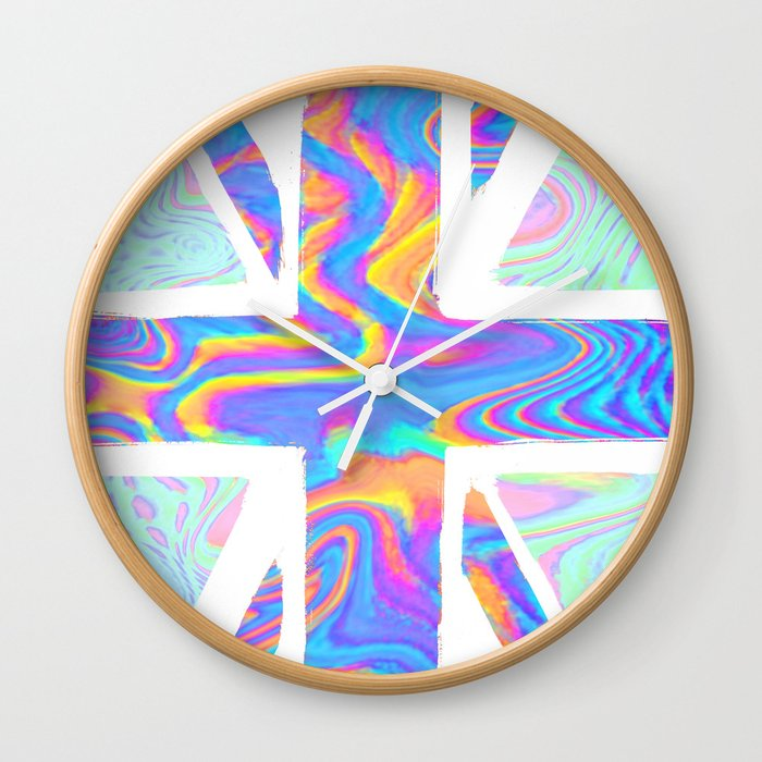 Holographic Union Jack  Wall Clock