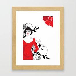 B&W+red Framed Art Print