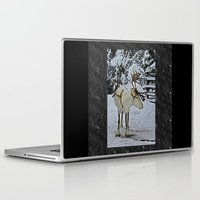 finland Laptop & iPad Skins featuring Reindeer in Lapland Finland by Guna Andersone & Mario Raats - G&M Studi