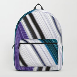 Purple Smooth Curved Aqua Contrast Colour Backpack