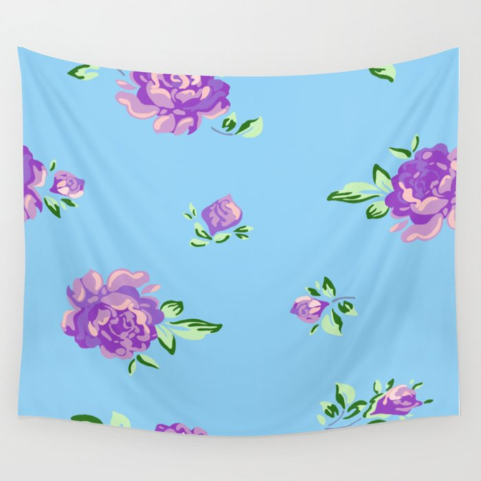 Blue Joys of Spring Wall Tapestry